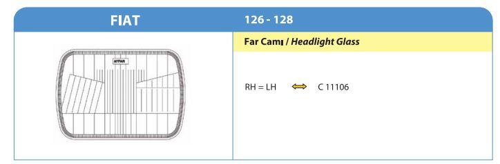 FAR CAMI FİAT 126-R128